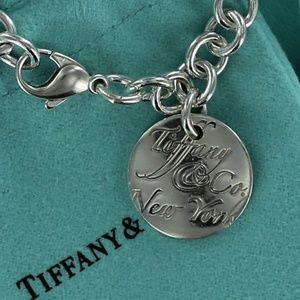 Tiffany NOTES New York Circle Tag Charm Bracelet